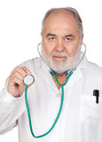 Senior doctor with hoary hair Royalty Free Stock Images