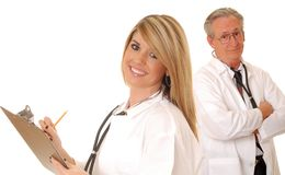 Senior Doctor and Lady Doctor Stock Images
