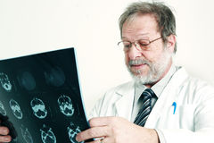 Senior doctor and radiography Stock Images