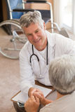 Senior doctor talking with his patient Royalty Free Stock Image