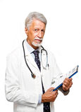 Senior doctor on white background Stock Photo