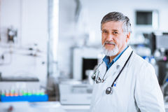 Senior doctor at work stock photos