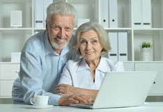 Senior Doctors   with laptop Stock Image