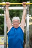 Senior doing physical activity Royalty Free Stock Image
