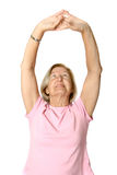 Senior doing her exercises Royalty Free Stock Photo
