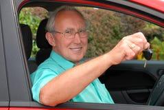 Senior Driver stock photo
