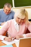Senior education Stock Image