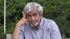 Senior Elderly Hispanic Man Wondering