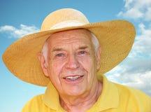 Senior enjoyng the summer Royalty Free Stock Images