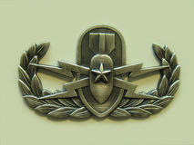 Senior EOD Badge. Senior EOD Explosive Ordnance Disposal badge or crab Stock Image