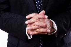 Businessman clasping hands Stock Image