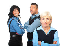 Senior executive and her young  team Royalty Free Stock Images