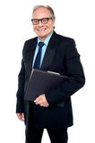 Senior executive is off to the boardroom Royalty Free Stock Images