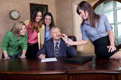 Senior executive signing a big contract Stock Images
