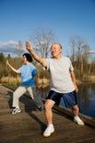 Senior exercise Stock Photos