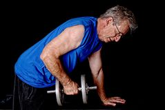 Senior Exercising Stock Photo