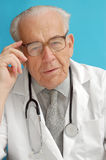 Senior family doctor Stock Image