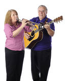 Senior Family Musicians Stock Photo
