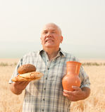 Senior farmer royalty free stock photos