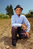Senior farmer outdoor Stock Image