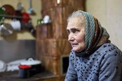 Senior farmer woman indoor Royalty Free Stock Photos
