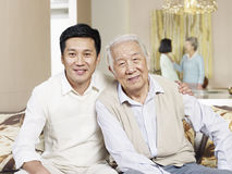 Senior father and adult son Stock Images