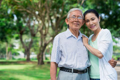 Senior father and his daughter Royalty Free Stock Photo