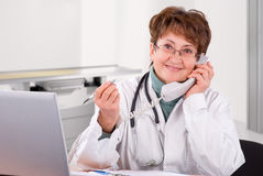 Senior female doctor Stock Photography