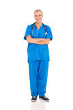 Senior female doctor stock image