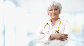 Senior Female Doctor Royalty Free Stock Photos