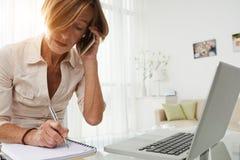 Senior female entrepreneur Stock Image
