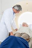 Senior Female Having MRI Scan Royalty Free Stock Photography