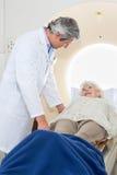 Senior Female Having MRI Scan Royalty Free Stock Photography