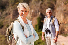 Senior female hiker Royalty Free Stock Photography
