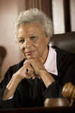Senior Female Judge contemplating Royalty Free Stock Photo