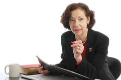 Senior female lady business executive Stock Photography