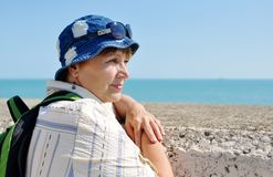 Senior female tourist Royalty Free Stock Photos