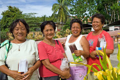 Senior Filipino Women Stock Photos