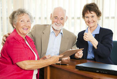 Senior Financial Advice - Thumbsup Stock Photos