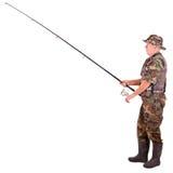 Senior fisherman Stock Photo