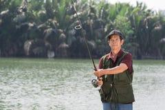 Senior fisherman Royalty Free Stock Photos