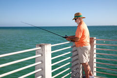 Senior Fisherman Horizontal stock photos