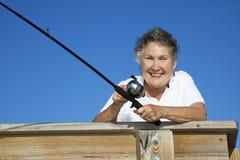Senior Fisherwoman stock images