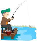 Senior Fishing Stock Images