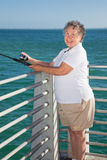 Senior Fishing Fun Royalty Free Stock Photos
