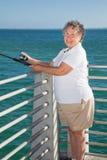Senior Fishing Fun royalty free stock photos