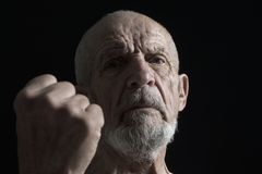 Senior with fist 2 Royalty Free Stock Photography