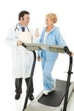 Senior Fitness - Positive Report Stock Photos