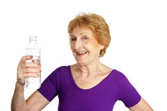 Senior Fitness - Thirsty royalty free stock images