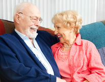 Senior Flirtation Royalty Free Stock Photography